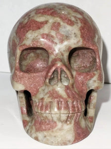 Rhodonite Crystal Skull - Ruby Dragon
