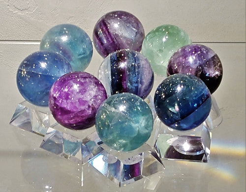 Fluorite Sphere - Ruby Dragon