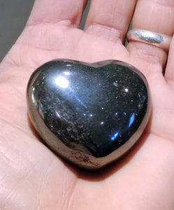Hematite Heart - Ruby Dragon