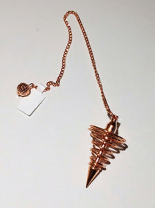 Pendulum ~ Copper Spiral - Ruby Dragon