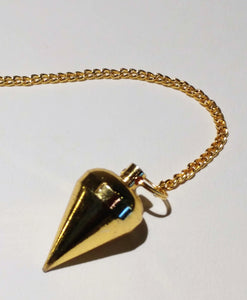 Pendulum ~ Gold Tone - Ruby Dragon