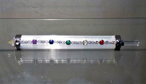 Gemstone Wand ~ Selenite & Chakra - Ruby Dragon