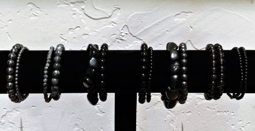 Bracelet Bar ~ Black & Gray - Ruby Dragon