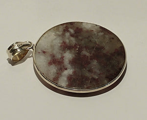 Lepidolite Sterling Silver Pendant - Ruby Dragon