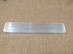 Selenite Bar - Ruby Dragon