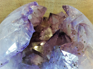 Amethyst Sphere Geode - Ruby Dragon