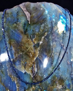 Blue Sapphire Gemstone Necklace - Ruby Dragon