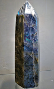 Labradorite Standing Point - Ruby Dragon