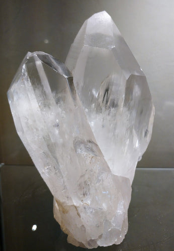 Lemurian Quartz Twin Standing Point - Ruby Dragon