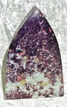 Lepidolite Flame Standing Point - Ruby Dragon