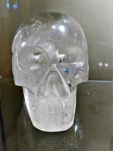 Brazilian Quartz Crystal Skull #9 - Ruby Dragon