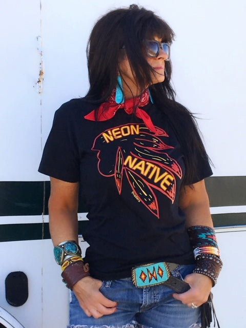 Neon Native Tee-Pradera - purveyors of the west