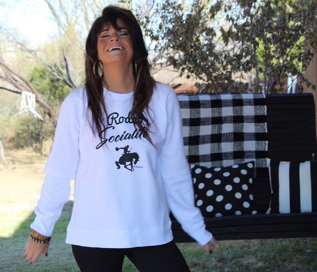 Rodeo Socialite Sweatshirt-Pradera - purveyors of the west