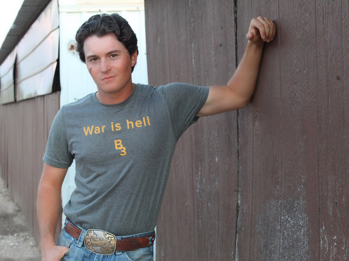 War is hell tee-Pradera - purveyors of the west