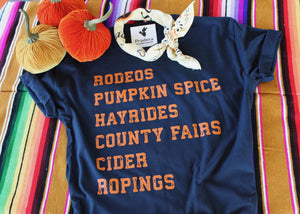 Fall Favorites Tee-Pradera - purveyors of the west