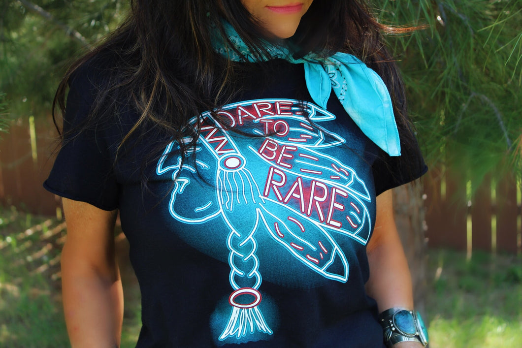 Dare To Be Rare Tee-Pradera - purveyors of the west