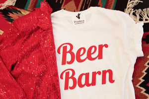 Beer Barn tee-Pradera - purveyors of the west