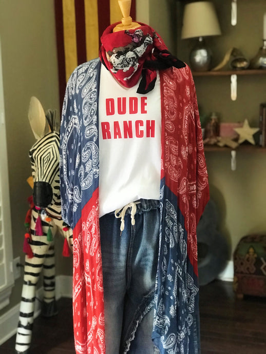 Dude Ranch Tee-Pradera - purveyors of the west