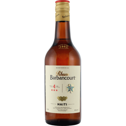 Barbancourt 4 ans 3* 40° 70 CL