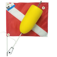 Dive Flag Torpedo Float 2 Piece with Vinyl Flag - Scuba Dive It Gear