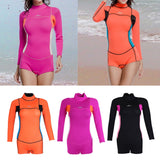 2mm Neoprene Surf Suit Back Zip Full Wetsuit Sports Skins Suit for Kayaking Snorkeling Scuba Diving Swimming Snorkeling Surfing