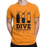 one yona Scuba Diving T Shirt Men's Cotton Hipster T-Shirts Dive Diver Sea Snorkeling Sports Tees Short Sleeve Clothes Plus Size