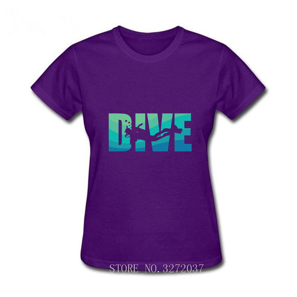 I Love Diving T Shirt Women White Short Sleeve Custom girl Male Dive Always Be Nice To A Diver T-Shirt Scuba game tshirt