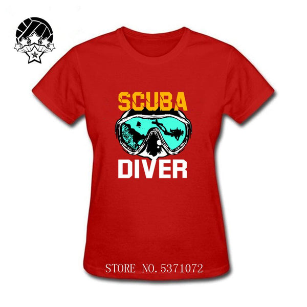 Dive Gift SCUBA Diving Snorkel Ocean Oxygen Atoll women T Shirt 2020 Summer 100% Cotton Clothes Black Red tee