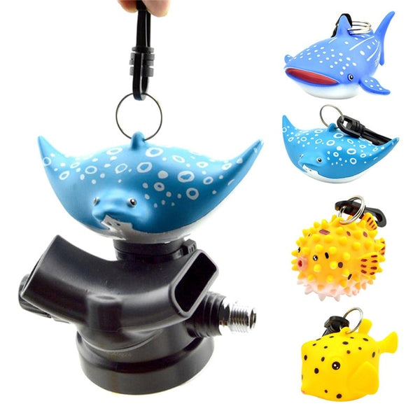 Cartoon Fish Scuba Dive Mouthpiece Dustproof Cover Regulator Holder With Clip Octopus Safe Second Stage Protective Accessories