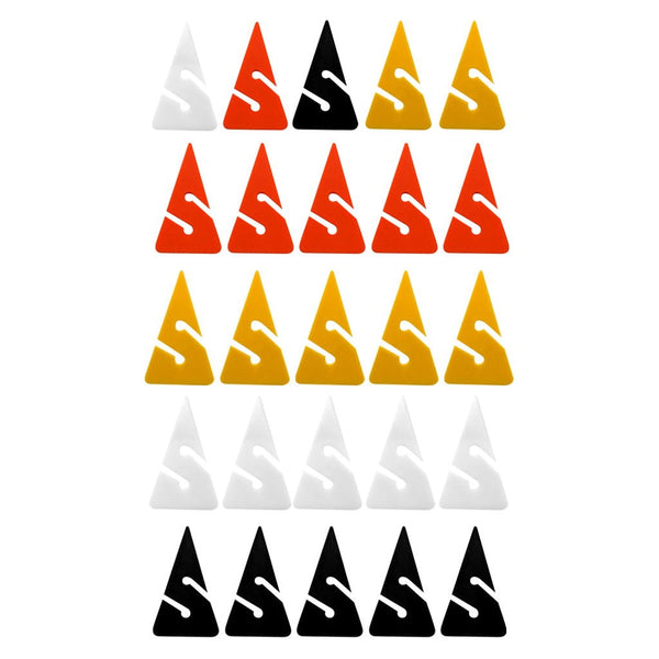 Pack 5 Scuba Diving Line Markers for Cave and Wreck Diving Gear Equipment Accessories - Various Color