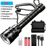 2020 XHP70 Xlamp Dive for LED Flashlight XHP50.2 Powerful Scuba Diving Brightest Underwater 300M Torch Waterproof 3T6 Lanternas