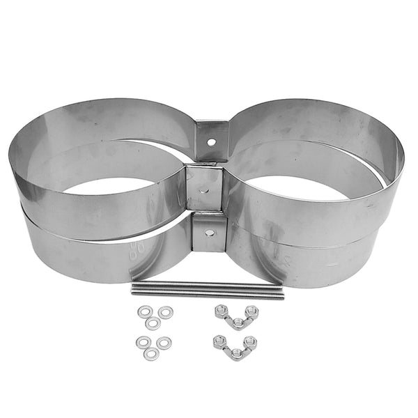 Stainless Steel Scuba Tech Diving Double Twin Cylinder Tank Mounting Bands / Connector / Retainer