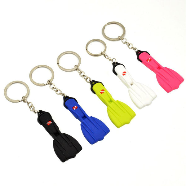 Mini Scuba Flipper Key Chain Dive Fins Keychain Key Ring Holder Keyring Pendant Ornaments Key chain
