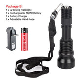 15000LM Diving LED Flashlight Scuba L2 Submarine Lights 100M Underwater Divi Torch Lanternas 18650 Night Light Lamp Waterproof