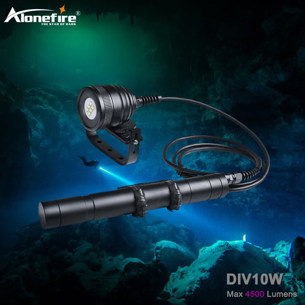 Alonefire DIV10W CREE XM-L2 LED Waterproof Scuba Diving Flashlight Dive Underwater 150M Torches Lamp Light