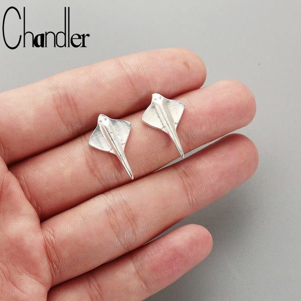 Chandler Manta Ray Earrings Fashion  Jewelry Scuba Dive Jewelry India Gift Summer Ocean Gift Minimalist Bronics
