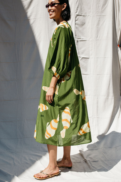 BALLAD FISH DRESS - GREEN