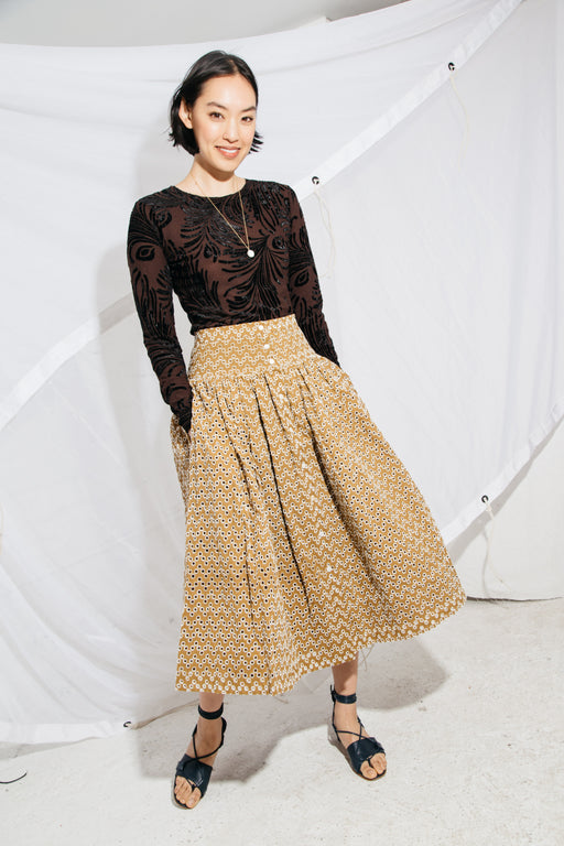 LINGO SKIRT - OAK EYELET