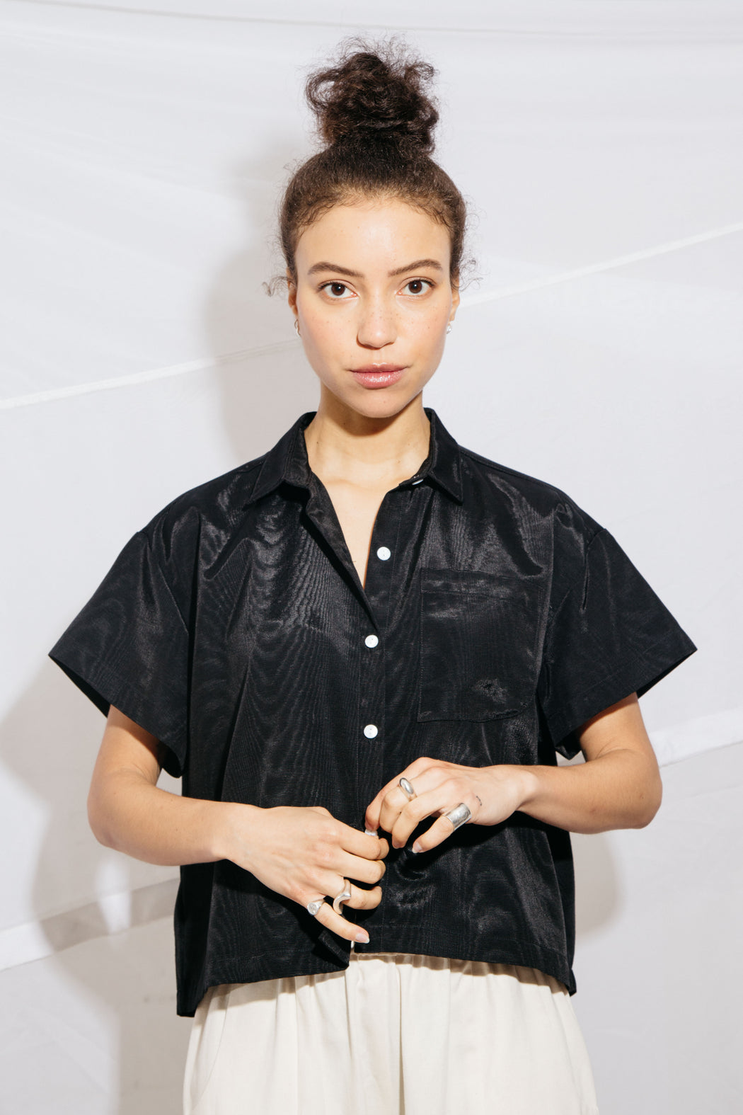 CORSO BUTTONDOWN - BLACK MOIRE