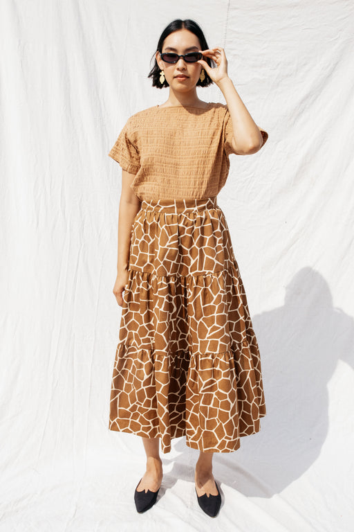 LOU SKIRT - NEUTRAL GIRAFFE