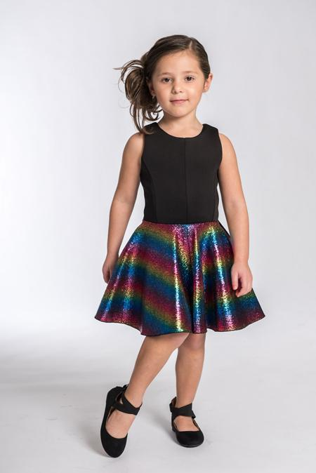 Rainbow Foil-DRESS-Sizes 4-16-Zoë Ltd