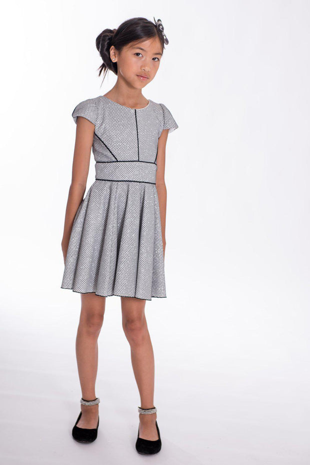Metallic Piper-DRESS-sizes 7-16-Zoë Ltd