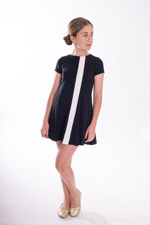 Colorblock Navy-DRESS-Sizes 4-16-Zoë Ltd