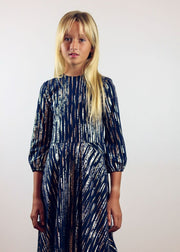 Navy Metallic | Midi