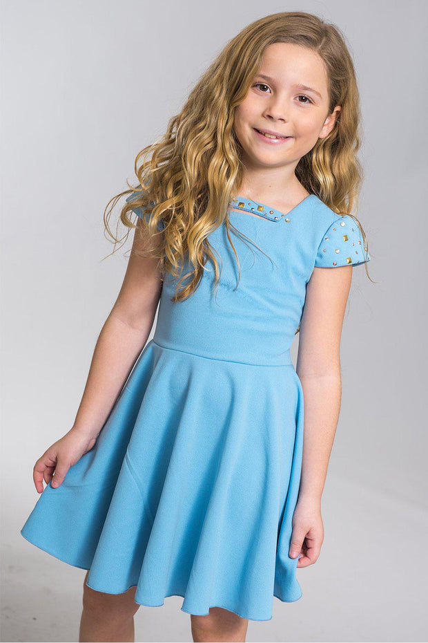 Riley | Blue-DRESS-Sizes 4-16-Zoë Ltd