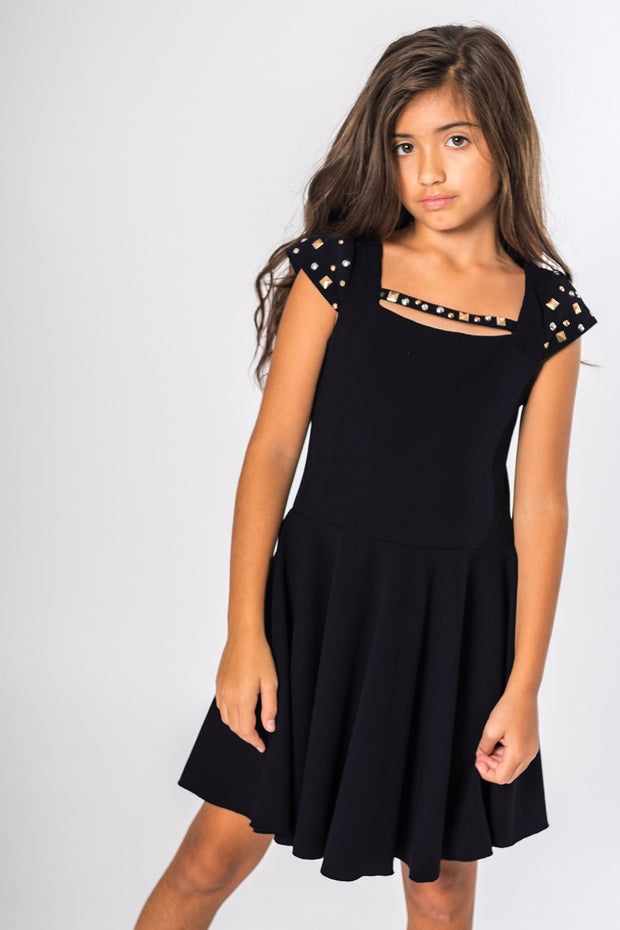Riley | Black-DRESS-Sizes 4-16-Zoë Ltd