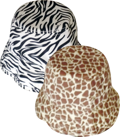 ZooHands® Children's Bucket Hat, Giraffe or Zebra Print