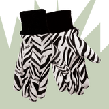 Zoohands Zebra Print Childrens Gardening Gloves 2 Pair Pack