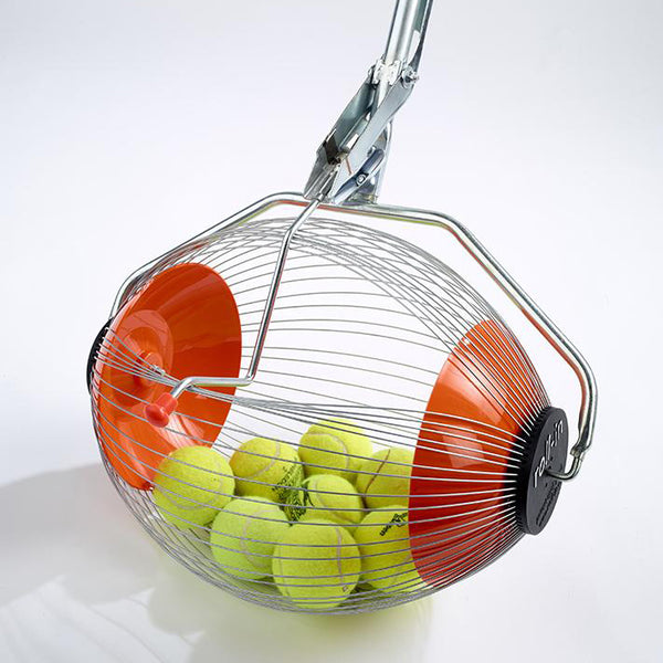 Tennis ball collector with balls