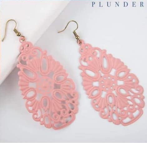 Pink Salmon Earrings